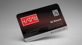 Rounded business card - Mockup